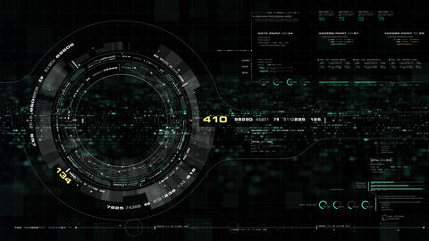 Futuristic motion graphic user interface head up display screen Animation
