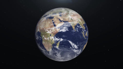 [alt video] Animation on Planet Earth from space on Star background...