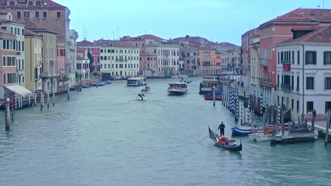 Grand Canal in Venice, Italy Live Action