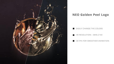 Neo Golden Peel Logo After Effectsテンプレート