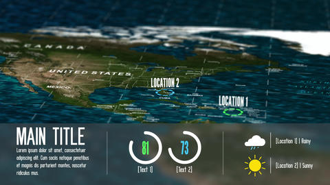 Earth Map and Infographics Motion Graphics Template
