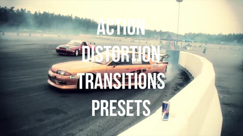 Action distortion transitions presets Premiere Pro Template
