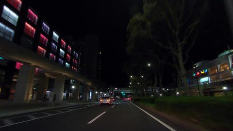 Night travel video. Fast forward ビデオ