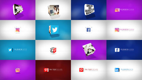 Clean Dynamic Cube Logo Reveals After Effects Template