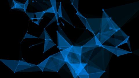 Plexus Blue Style Overlay CG動画素材