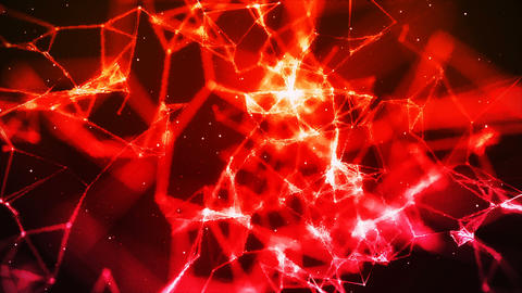 Abstract plexus energy red Stock Video Footage