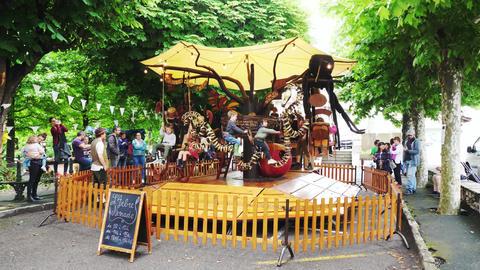 Carousel Children fete Hendaye France Live Action