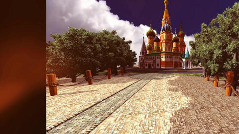 [alt video] 16 3D animated background with Russian style castle and...