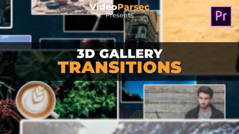 3D Gallery Transitions Premiere Proテンプレート