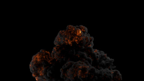 Large scale Explosion created Fume fx with Alpha matte Animation