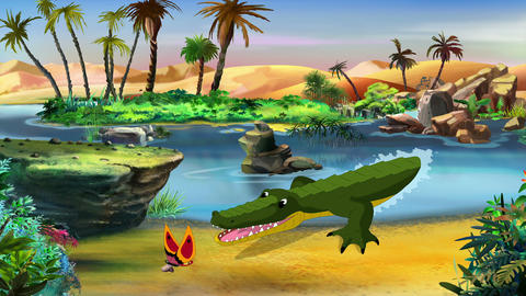 Little Playful Crocodile Footage