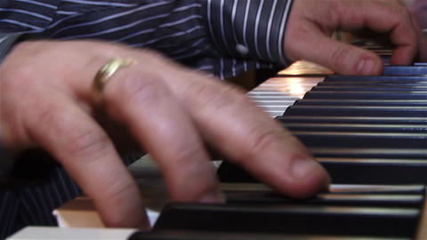Fingers of a pianist who show their mastery at a private show 05 Footage