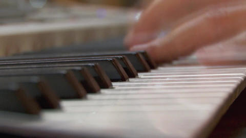 Fingers of a pianist who show their mastery at a private show 09 Live Action