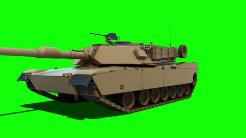 Abrams tank driving towards camera Animation