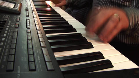Fingers of a pianist who show their mastery at a private show 13 Footage