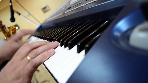 Fingers of a pianist who show their mastery at a private show 01 Footage