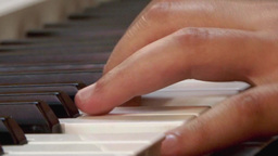 Fingers of a pianist who show their mastery at a private show 02 Footage