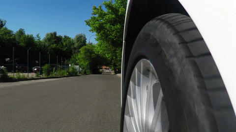 Close up Wheel car Footage