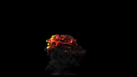 Large Powerful Explosion stock footage