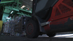 waste for recycling purposes being loaded Footage