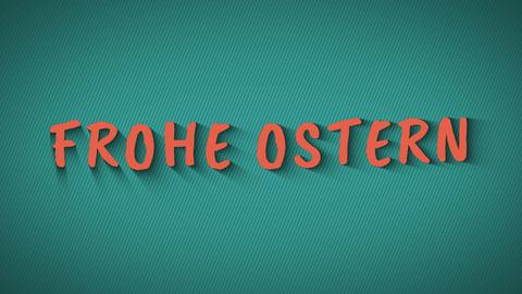 """Text with shadows """"Frohe Ostern"""" Photo"""