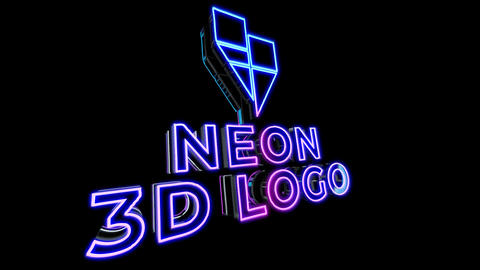 Neon 3D Logo Reveal After Effects Template