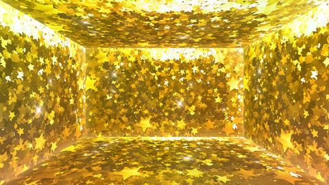 Glitter Room Gold Star 1 4k Animation