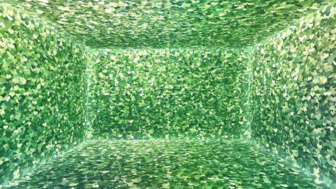 Glitter Room Green Heart 1 4k Animation