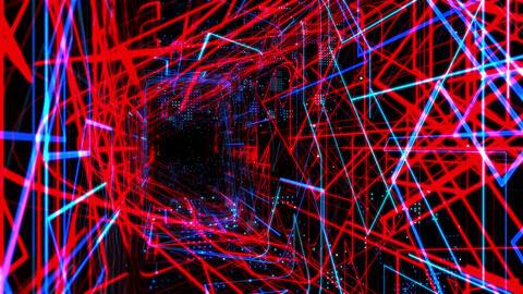 Laser Network Tunnel Light 03 GIF