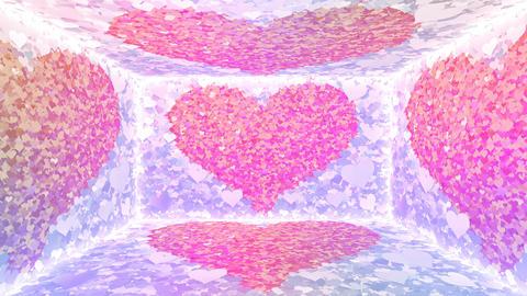 Glitter Room Violet Heart 3 4k Animation