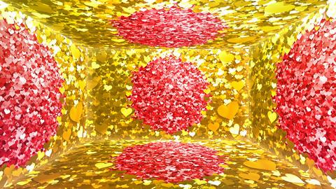 Glitter Room Gold Heart 2 4k Animation