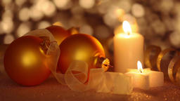Still life of christmas ornaments Footage