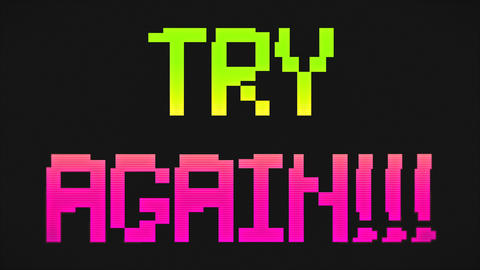 TRY AGAIN Screen Green And Pink Colors ライブ動画