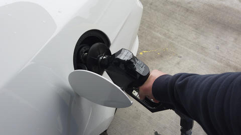 Putting Gas In A Car Footage