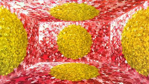 Glitter Room Red Star 1 4k Animation