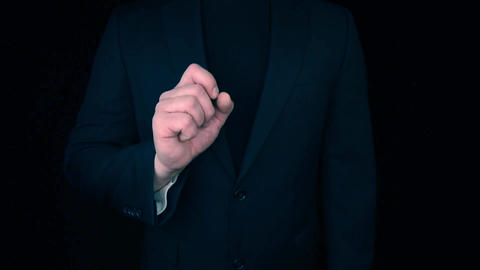 Business Man pointing with finger towards camera to empty placeholder Footage