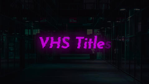 VHS Titles Motion Graphics Template