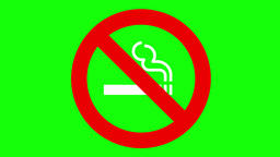 No smoking white move Animación