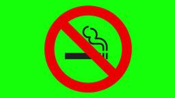 【4K】No smoking mark Animación