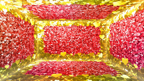 Glitter Room Red Heart 3 4k Animation