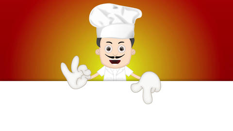 Ben Boy Funny Cartoon Character Toon Cook with orange background Animation