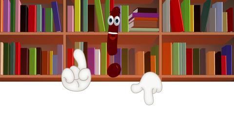Funny Cartoon exclamation mark info information symbol, Stock Animation