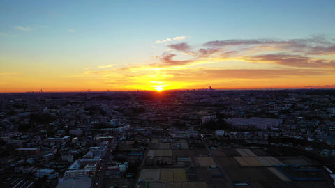 Sun rise scene Footage