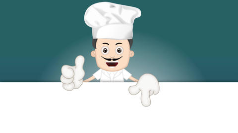 Ben Boy Funny Cartoon Character Toon Cook with blue background Animation