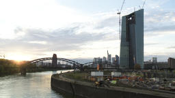 Urban Panorama of River, Skyline, and Cloudscape Live Action