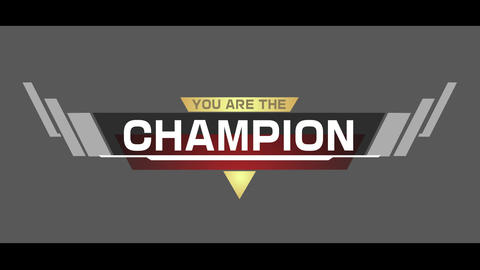 CHAMPION logo After Effects Template