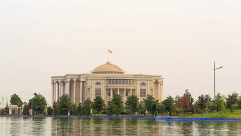 Glitch effect. Palais des Nations (Kohi Millat). SunSet. Time Lapse. 15 August 2014, Dushanbe, Archivo