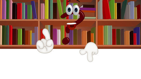 Funny Cartoon question mark info information symbol, Stock Animation