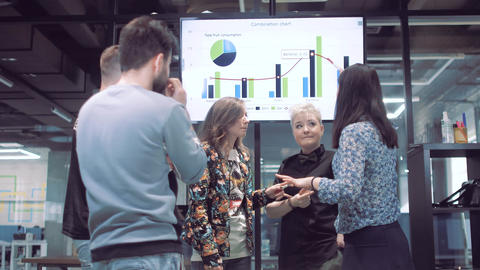business people discuss business development strategy on... Stock Video Footage