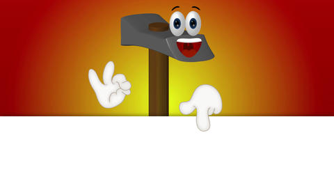 Funny Hammer Cartoon Illustration Tool Tools Animation